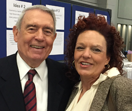 Shelley with Dan Rather